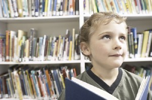 Child in the library - is he a poet?