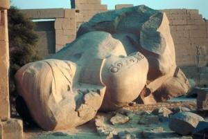 Fallen statue