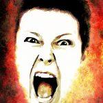 Angry rebuke